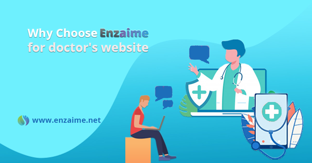 Enzaime for Doctor website by wordpress